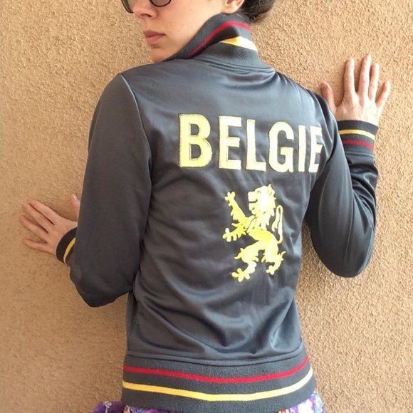 BDG Jackets & Blazers - BELGIE Zip Up With Lion Crest Belgium